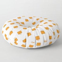 Orange Birkin Vibes High Fashion Purse Illustration Floor Pillow