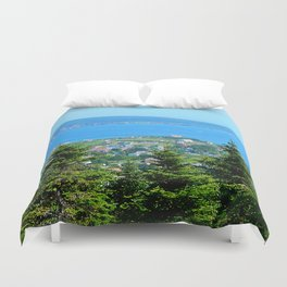 Bonaventure Island panoramic Duvet Cover