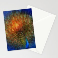 Peacock in Blue Stationery Cards