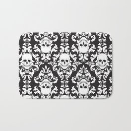 Skull Damask Bath Mat