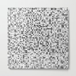 Gray Scale Grid - There's Nothing Left Metal Print