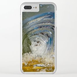 Beautiful Chaos - Ocean Wave Clear iPhone Case