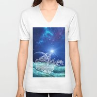 neverland V-neck T-shirts featuring To Neverland by Cat Milchard