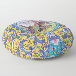 Iranian tiles Floor Pillow