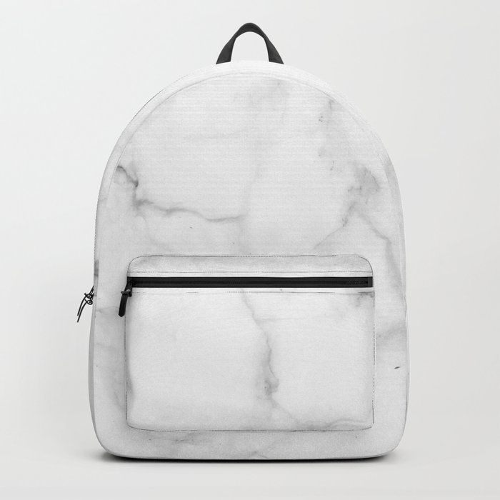 Pure Solid White Marble Stone All Over Backpack