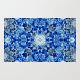 Aqua Crystal Mandala Rug