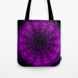 complex purple spiral Tote Bag