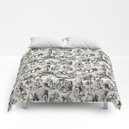 Alice in Wonderland | Toile de Jouy | Black and Beige Comforters