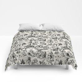 Alice in Wonderland | Toile de Jouy | Black and Beige Comforters