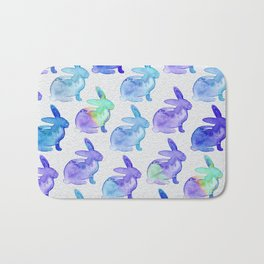 Watercolor Bunnies 1C by Kathy Morton Stanion Bath Mat