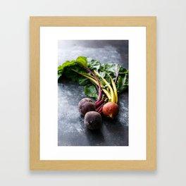 Rainbow Beets Framed Art Print