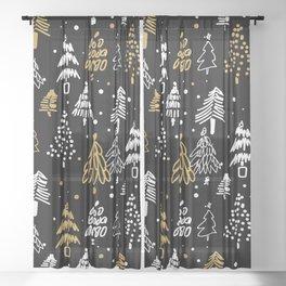Christmas Tree Pattern Sheer Curtain