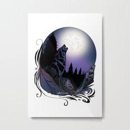 Howling Wolf (Signature Design) Metal Print