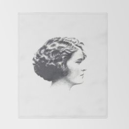 A portrait of Zelda Fitzgerald Throw Blanket
