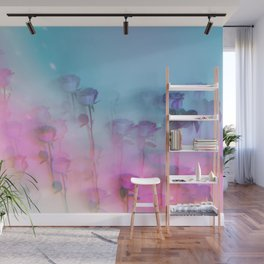 Pretty Pink Roses Wall Mural