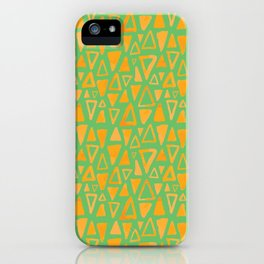 Triangles Pattern iPhone Case