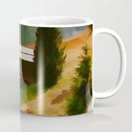 Italy Dolomite Mountains Travel Poster Vintage Style Coffee Mug