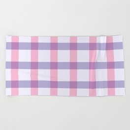 Purple Pink Line Geometric Pattern Beach Towel