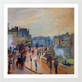 Claude Monet Pont Neuf Art Print