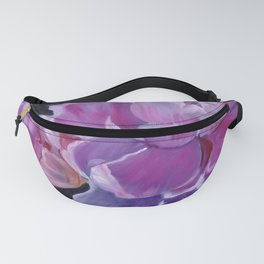 Pink Violet Peony Fanny Pack