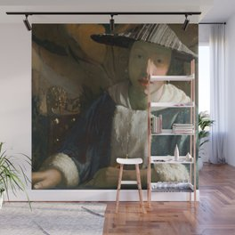 Johannes Vermeer - Girl with a Flute Wall Mural