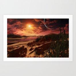 Kepler 186f b Art Print