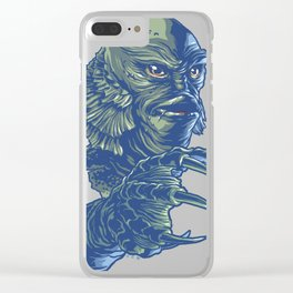 Portrait of the Creature Clear iPhone Case