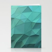 low poly Stationery Cards featuring Teal Low Poly Sphere by error23