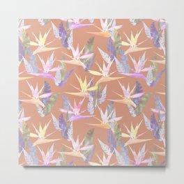 Birdie Tropical Blush Metal Print