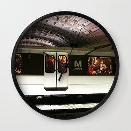 Washington DC Metro Wall Clock