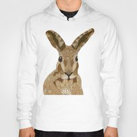 hare Hoodies featuring Happy Hare by ArtLovePassion