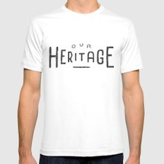 Our Heritage Mens Fitted Tee White MEDIUM