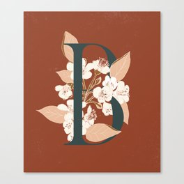 Letter B for Bergenia Canvas Print