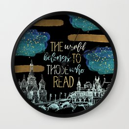 Stars Read the World Wall Clock