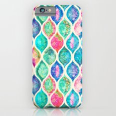 Watercolor Ogee Patchwork Pattern iPhone 6 Slim Case