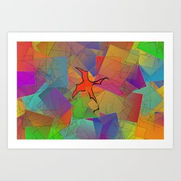 2506 Little cubistic phoenix ... Art Print