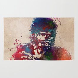 American football player 3 Rug