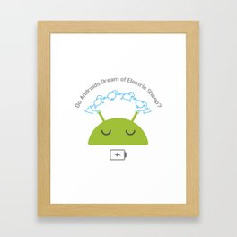 Androids and sheep Framed Art Print