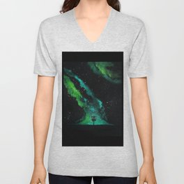 Green Galaxy Discing Unisex V-Neck