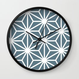 "Traditional Japanse Patten ""Hemp"" Wall Clock"