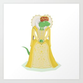 Queen Elizardbeth I Art Print