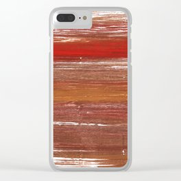 Chestnut abstract watercolor Clear iPhone Case