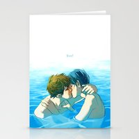 iwatobi Stationery Cards featuring free! by Rolic