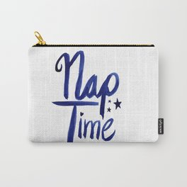Nap Time | Lazy Sleep Typography Carry-All Pouch