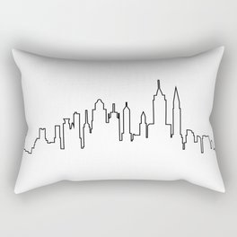 New York City Skyline Silhouette Rectangular Pillow