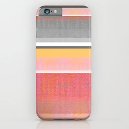 Sunshine in the Mind: Uplifting Happy Color Texture Study Abstract iPhone Case