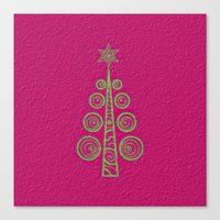 christmas tree Canvas Prints featuring Christmas Tree by Mr and Mrs Quirynen