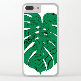 Monstera cheese plant house plants yoga studio minimalist art hipster decor Clear iPhone Case