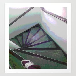 Footsteps on the stairs Art Print