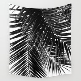 Tropical Vibes | Black and White Wall Tapestry